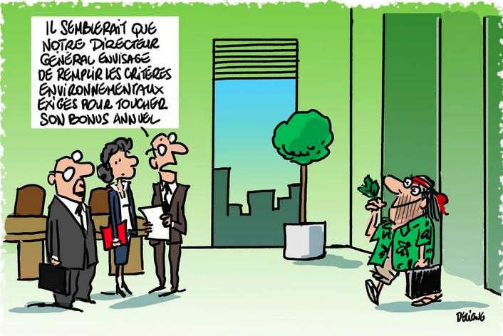 A LIRE : Pour leur bonus, les grands patrons doivent passer au vert